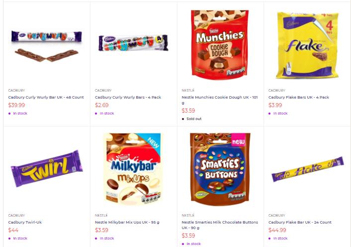 British Chocolate Bars